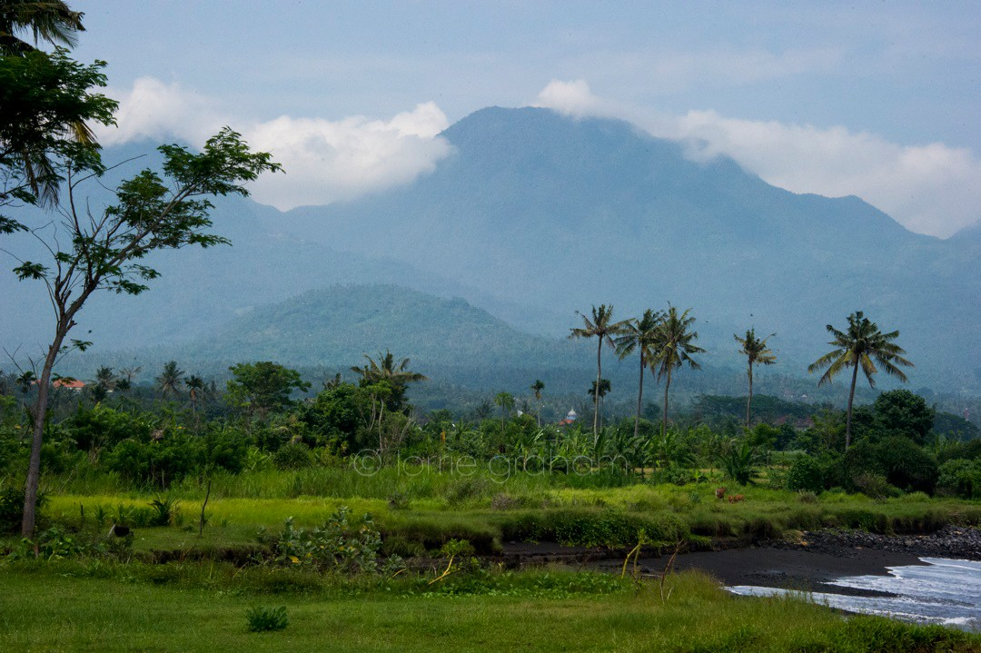 The mountains near Villa Campuhan, East Bali