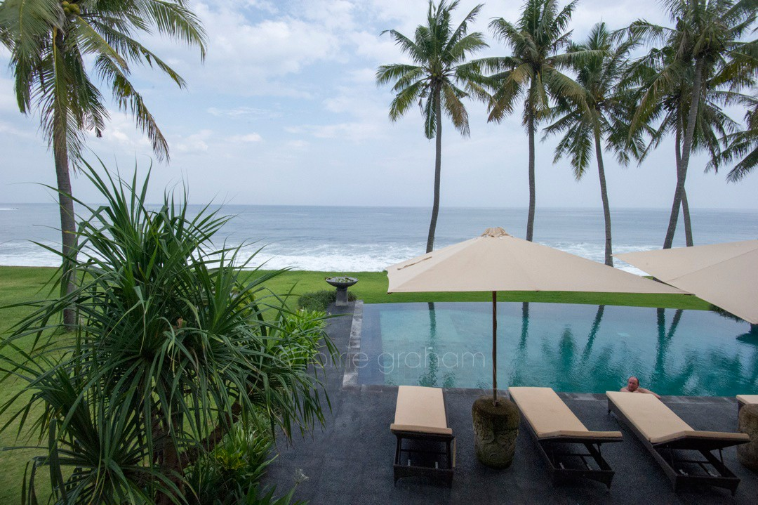 The pool and ocean outlook at Villa Campuhan, East Bali