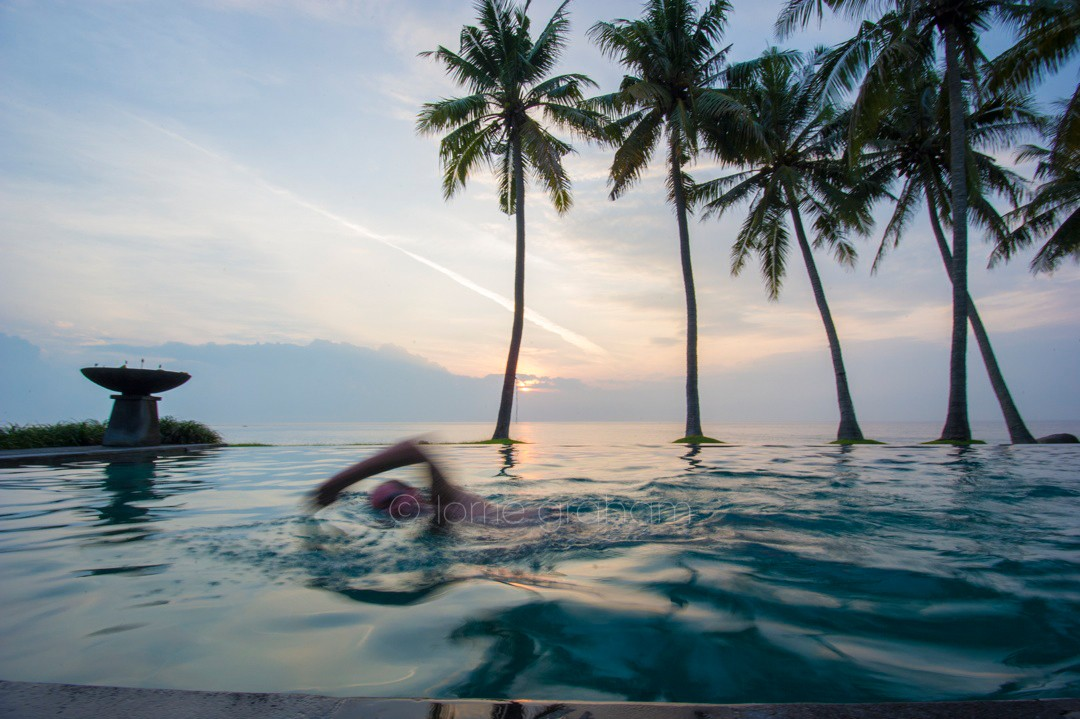 Sunrise swim at Villa Campuhan, East Bali