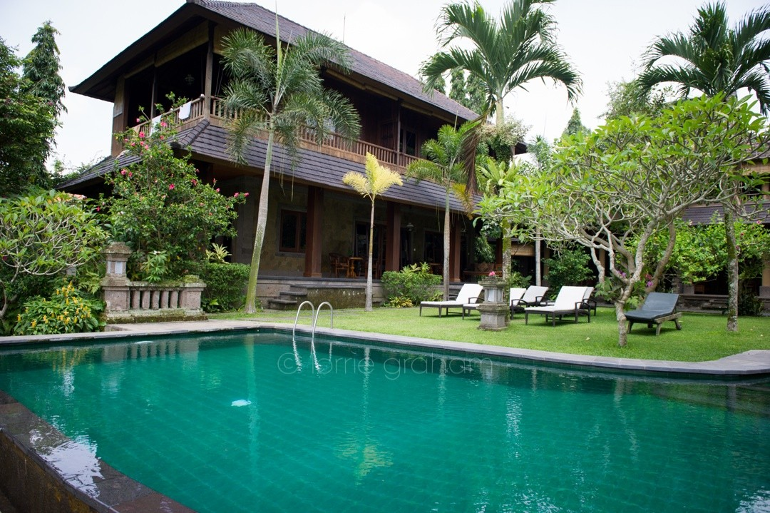 The pool and Villa A in the second annex area at Ananda Cottages, Ubud, Bali