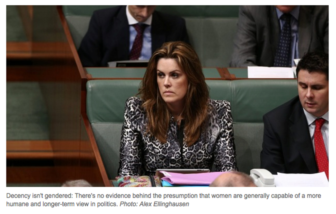 Peta Credlin from the Age 17.12.2014