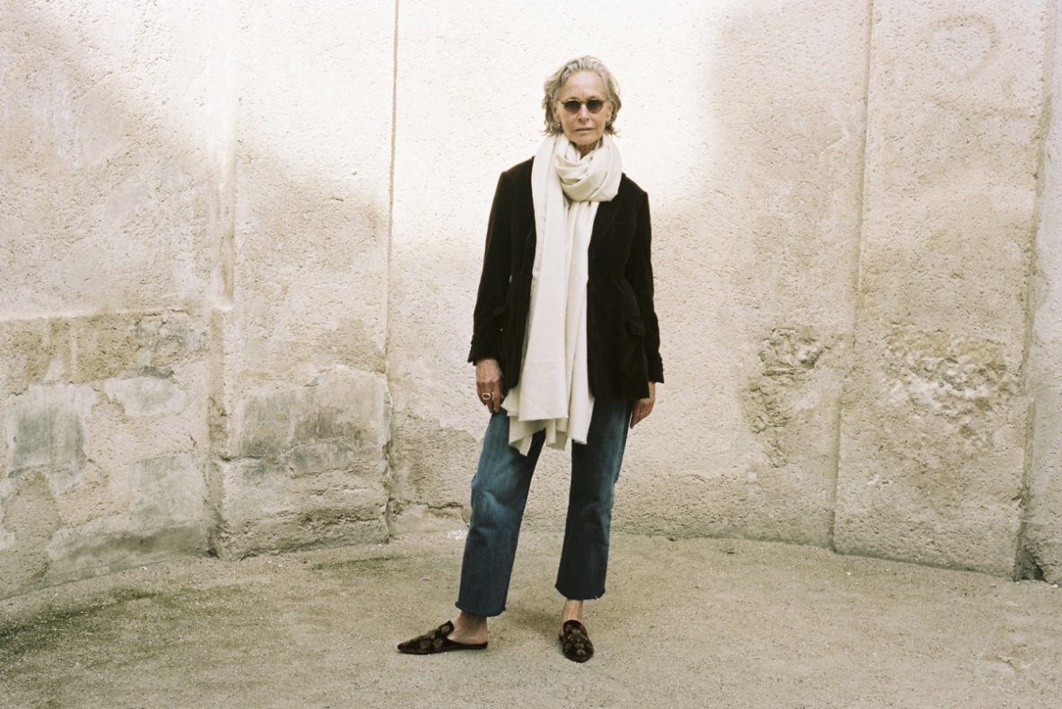 Lynda V Wright, over 50's style blogger who lives in Paris with a shop called Crimson
