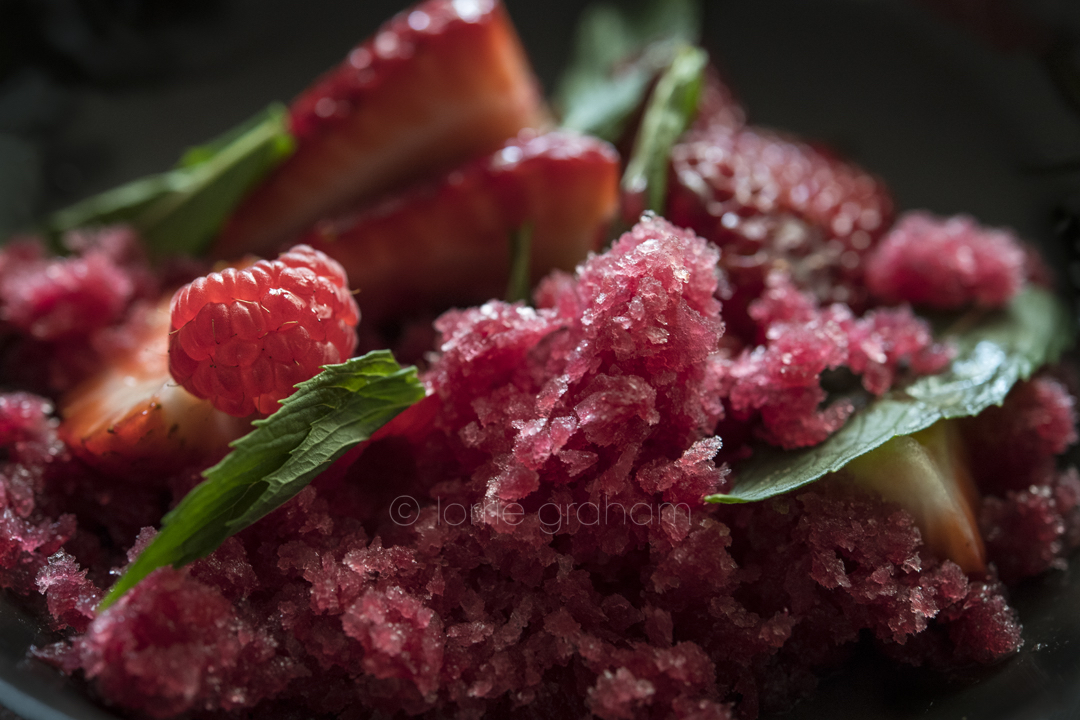 Neil Perry's Blood orange, lime and ginger granita recipe