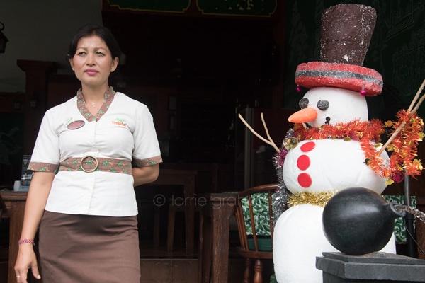 Christmas celebrations in Ubud, Bali, December 2017