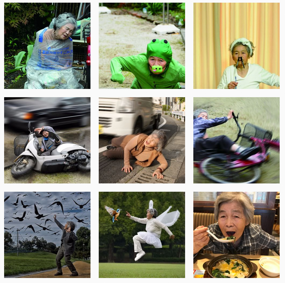 Kimiko Nishimoto started taking photographs in 2001 she is now a Instagram star