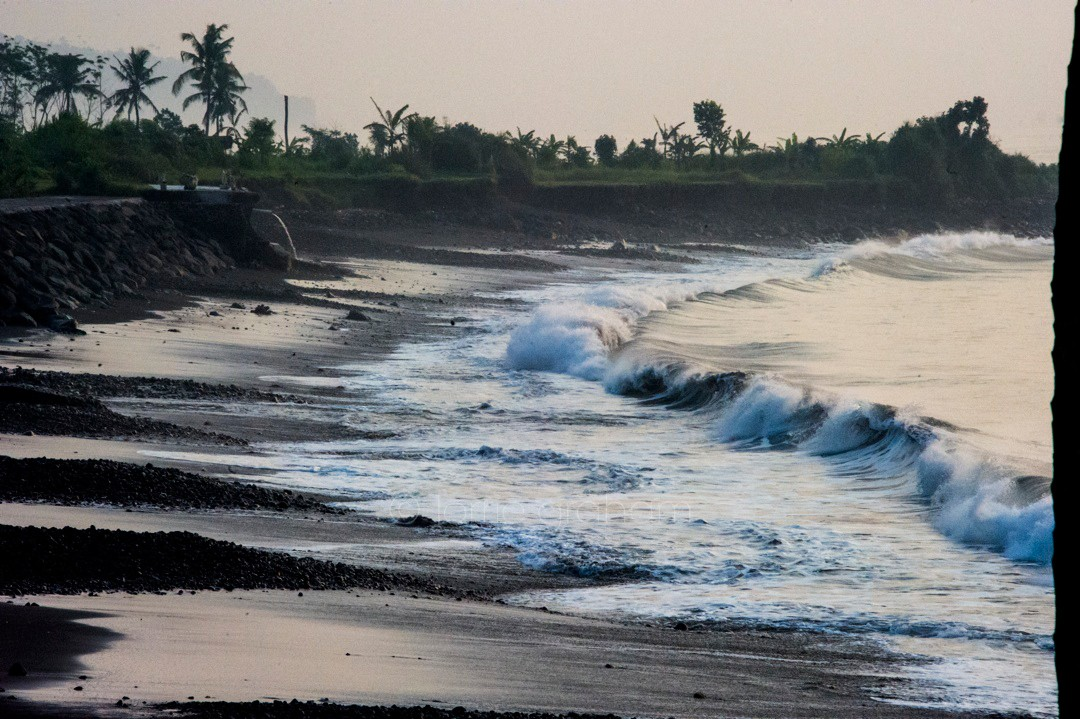 The beach beside Villa Campuhan, East Bali