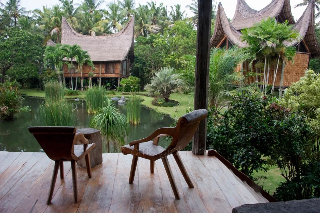 The view from the main villa at Villa Campuhan, East Bali