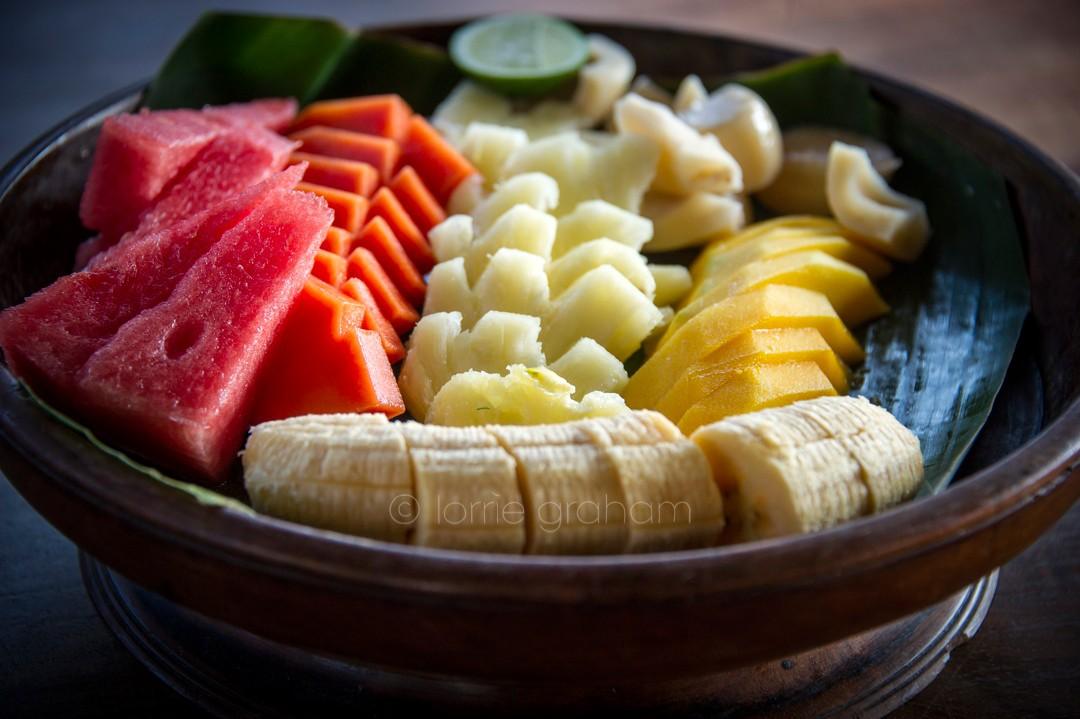 Breakfast delights at Villa Campuhan, East Bali