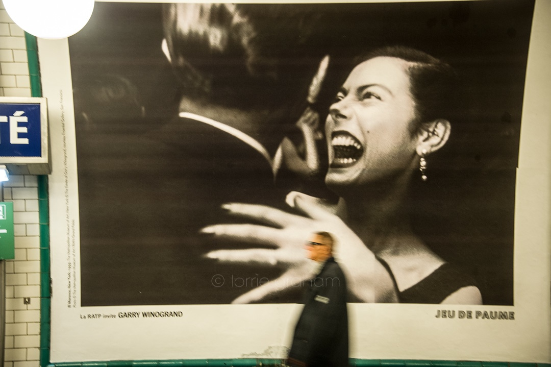 Photo Exhibition on walls of the Paris Metro
