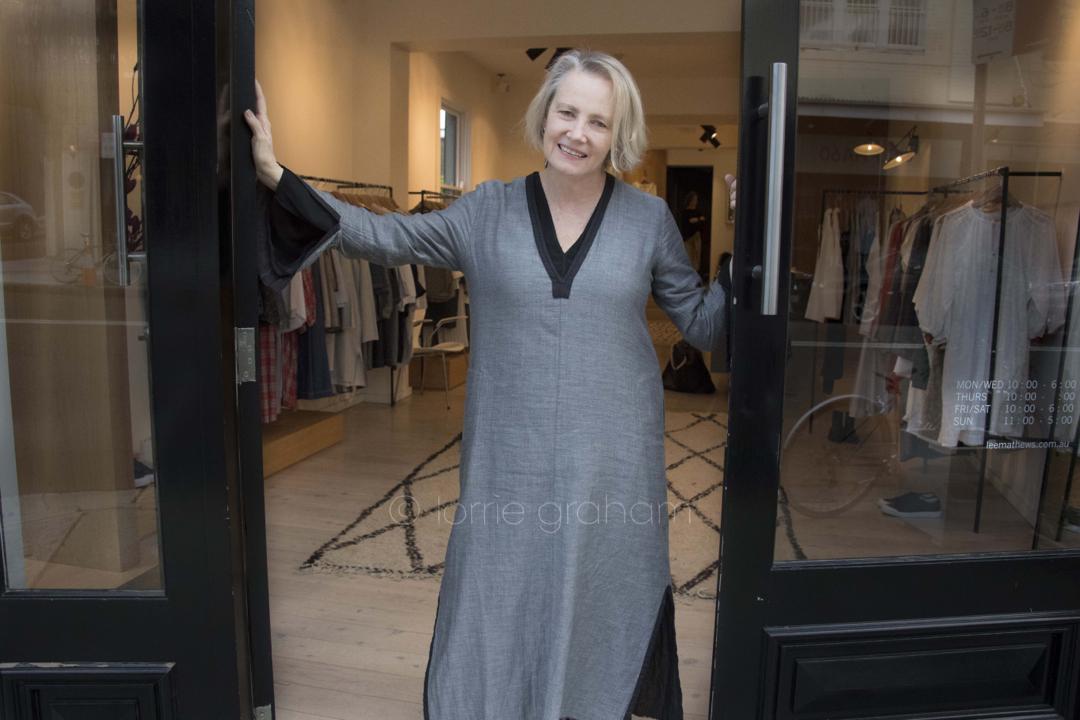 Bronwyn, sales person at Lee Mathews store in Paddington