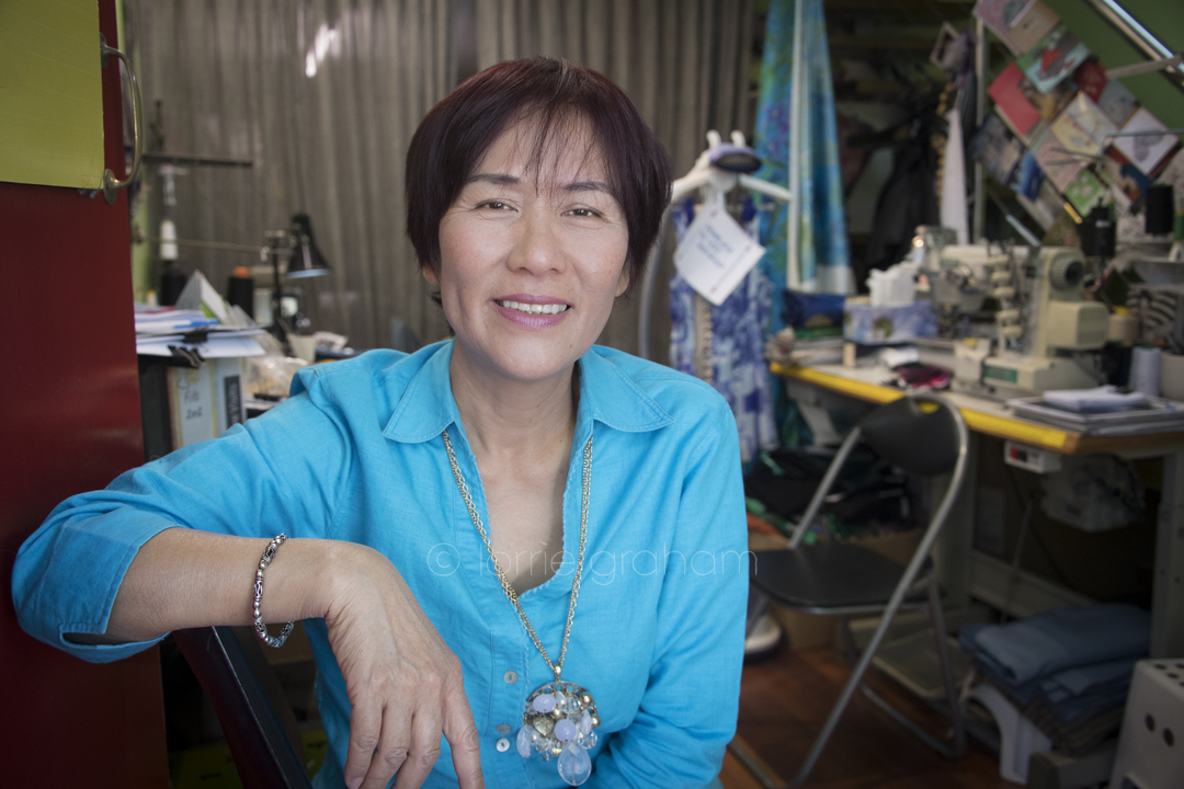 Tailor Tran Do Thien in her hole in the wall business in Darlinghurst.