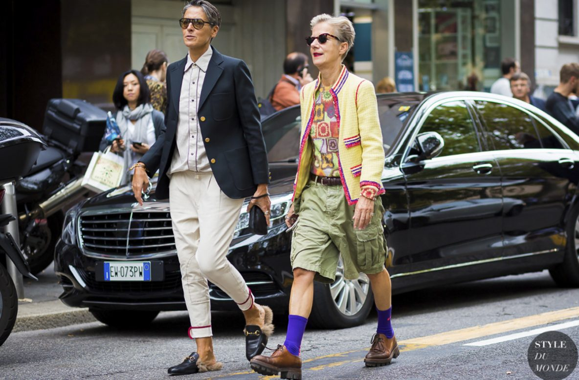 Ana Gimeno Brugaada and her friend Bettina Oldenburg have fun with fashion like no others, good taste and gender specific is not their story.
