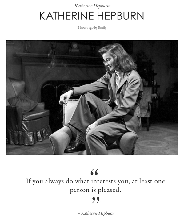 The wise words of Katherine Hepburn