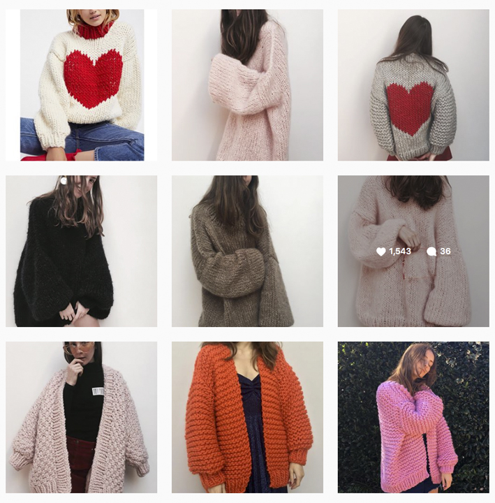 Nicole Leybourne is the Kiwi behind the brand The Knitter. You may be wondering why I'm talking jumpers in Summer?