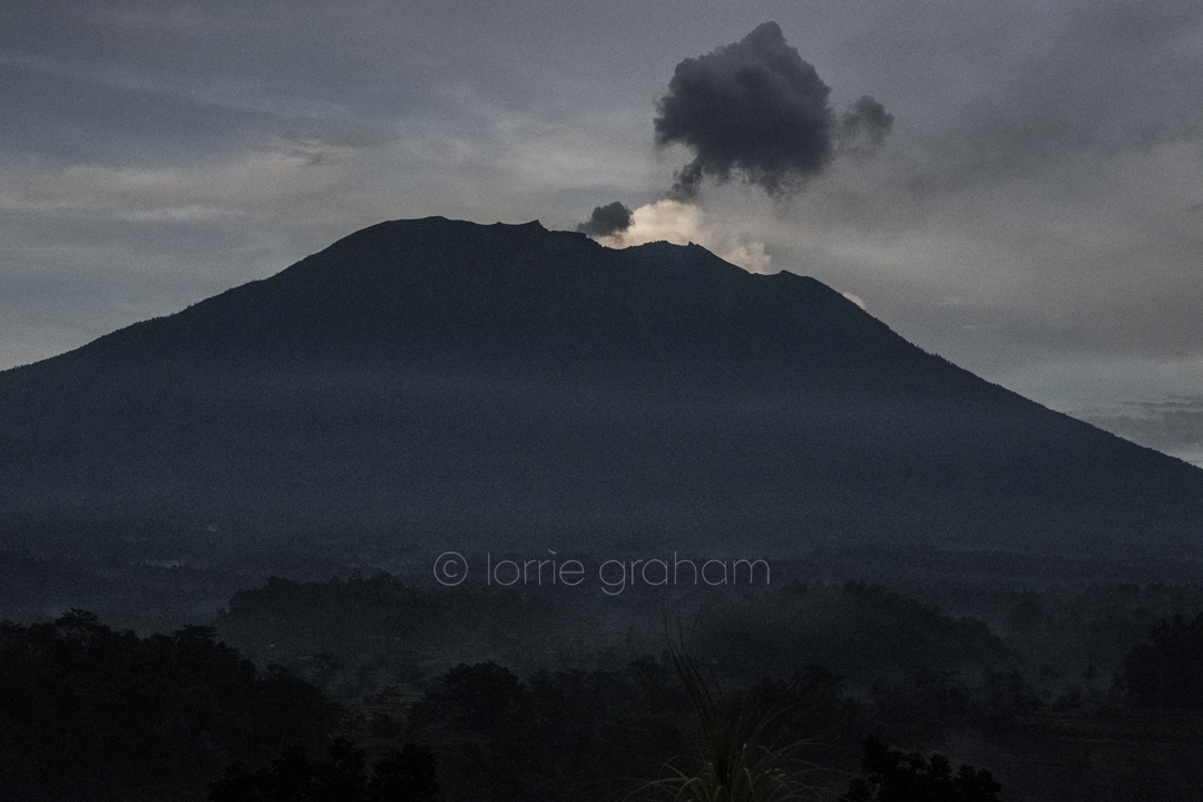 Villa Sidemen and Mt Agung, Sidemen, East Bali, January 2018