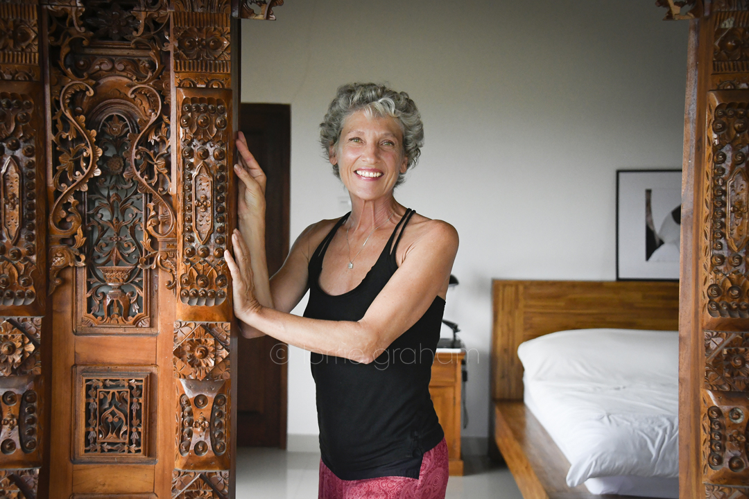 Karine Willemel, Ubud resident, Bali, January 2018