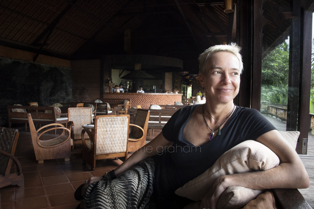 Penny Williams and Bali Asli Restaurant, East Bali, January 2018