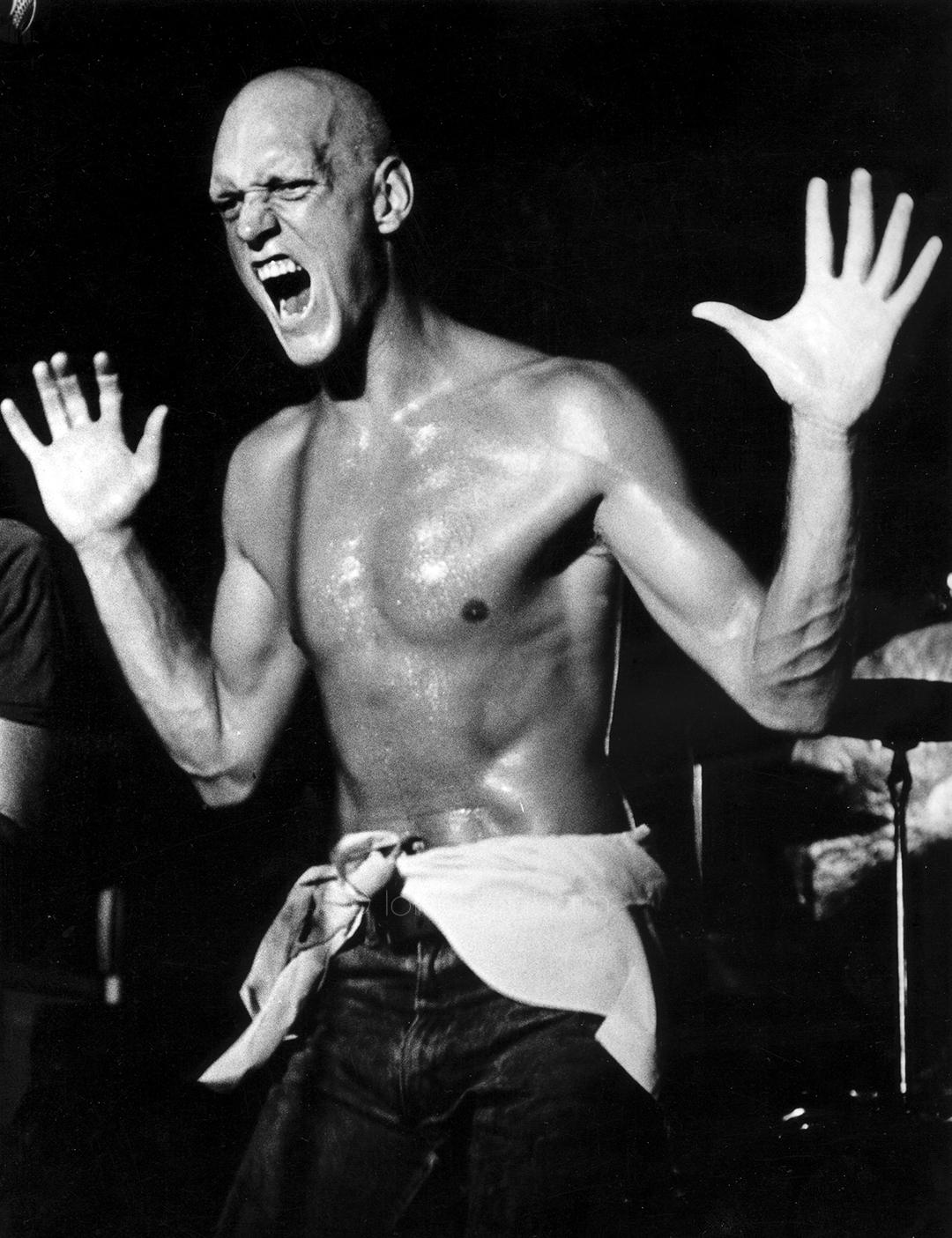 Peter Garrett, Lead singer of Midnight Oil, Sydney, 1983