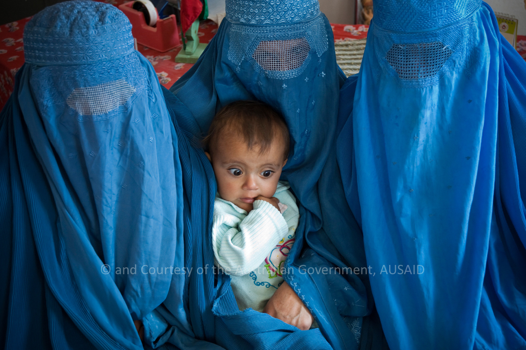 Teachers and child, at Mala Lia Girls School, Tarin Kowt, Uruzgan Province, Afghanistan